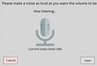 microphone icon with volume control