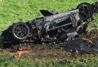 richard hammond and totaled car