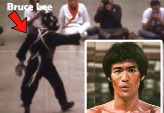 screenshot of a video of bruce lee's only known sparing match