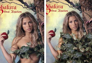 shakira in a sexy leaf costume vs her covered in leafs