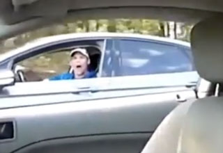 Man yelling from his car