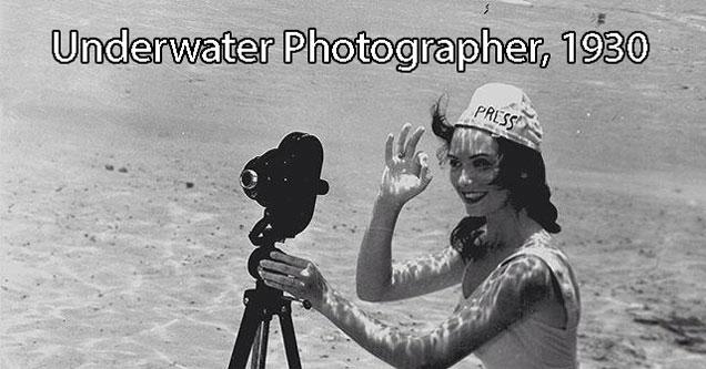 underwater photographer in 1930