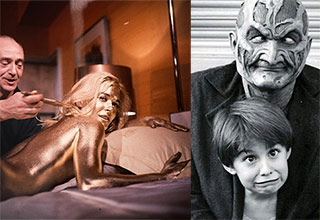 movie set pics from goldfinger and freddy kruger