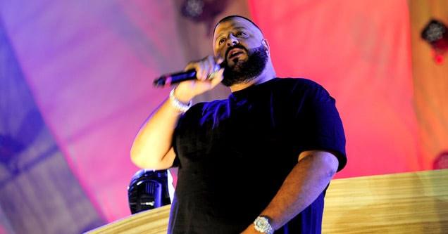 dj khaled looking confused on stage