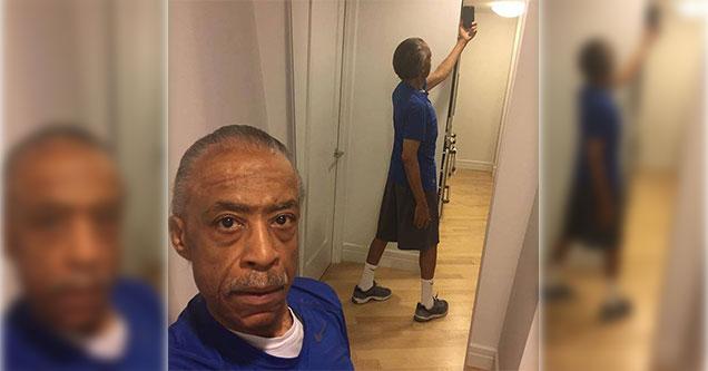 al sharpton taking a selfie