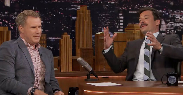 will ferrell talking to jimmy fallon on his show