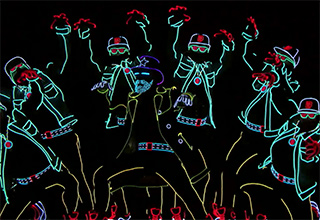 This neon dance troupe is awesome
