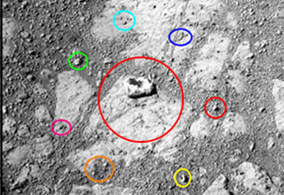 picture from the mars mission where a strange rock was found