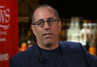 comedian jerry seinfeld and newman from seinfeld