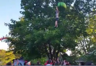 woman falls from ride