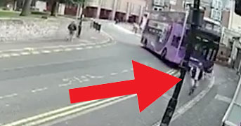 Man hit buy bus and then gets a pint of beer
