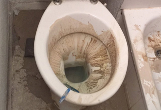 gross dirty toilet