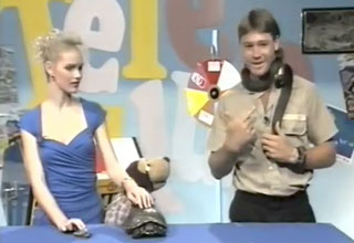 Steve Irwin that time he got bitten by a snake on live TV