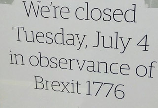 text that says the original  brexit 1776
