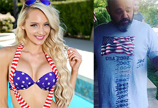 'murica pics for the 4th - girl in bikini and man wearing shirt with year updated the past dozen or so years