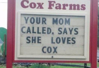 your called and loves cox