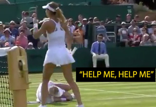tennis player collapses on the field during match