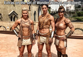 muscular women on the set of wonder woman