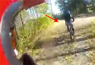 bike wipeout on trail