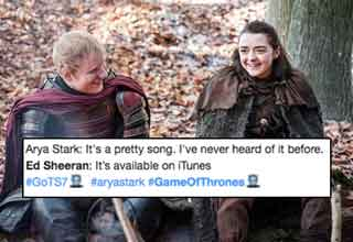 twitter reacts to ed sheeran on game of thrones