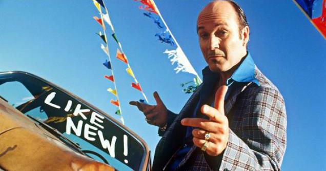 sleazy used car salesman