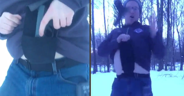 Guy's Hilarious Review for the worst gun holster ever