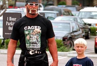 hulk hogan and his son nick wearing baggy jeans