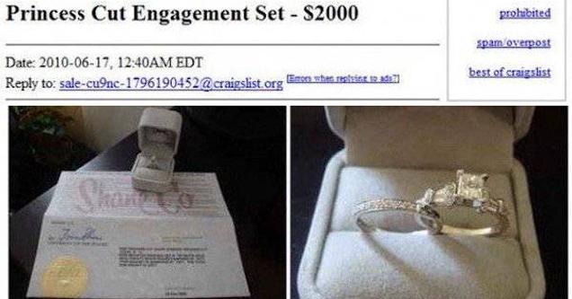 engagement ring craigslist post