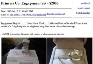 engagement ring craigslist post