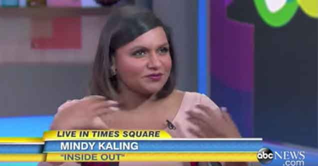 mindy kaling chooses her words wisely on abc