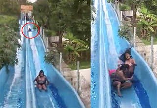 waterslide collision