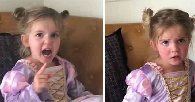 little girl did not like her trip to disneylan