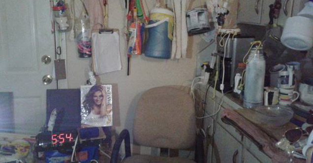 Nasty hoarder is your new roommate