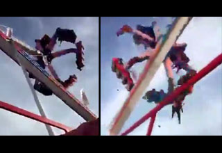 Spectator Captures Horrific Accident When a Fair Ride Suddenly Comes Apart