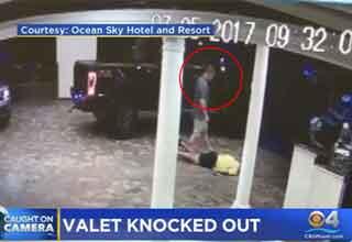 parking valet assaulted for $18 parking fee