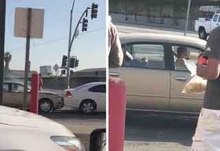 this dude really hates LA traffic