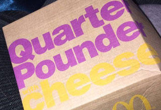 McDonalds quarter pounder with cheese box
