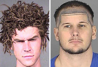 crazy mugshot hairdos