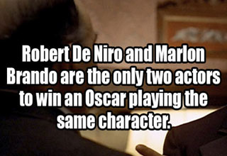 actors marlon brando and robert dinero both won oscars for playing don coreleone