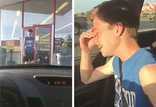 mom pranks her son with the ole blinker fluid trick