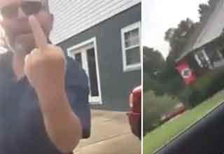 Lady Confronts Her Neighbor About Him Flying A Nazi Flag