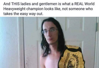 Cringe REAL world Heavyweight champion