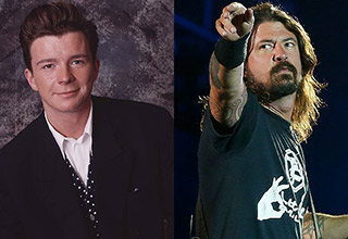 Rick Astley and Foo Fighters