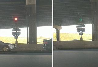 screenshots of an insanely short traffic light