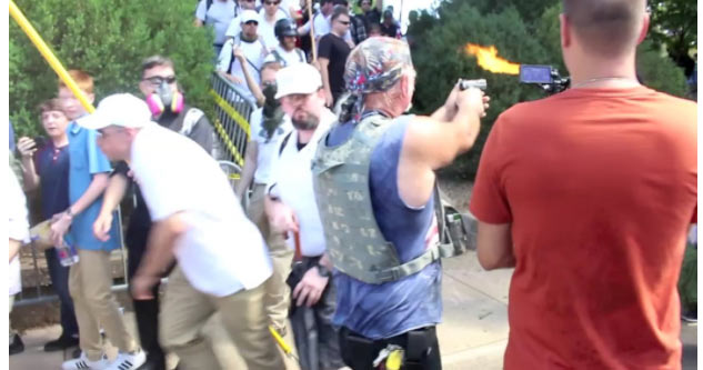 Crazy White Nationalist Fires Into A Crowd of People