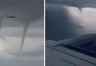 passenger planes dodges 3 tornadoes during landing