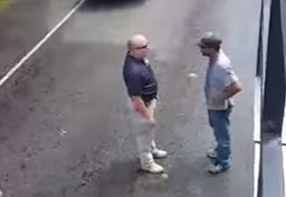 Angry Cop Yells at  Man Helping Harvey Flood Victims