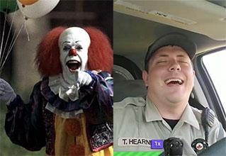 kid puts hit on clown