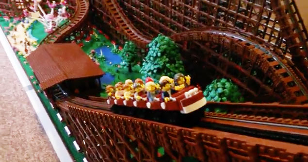 Lego rollercoast made in apartment