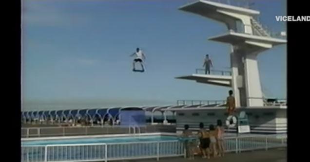 bam margera jumps off high dive